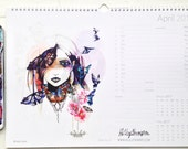 2017, A3 wall calendar by Holly Sharpe **ON SALE**
