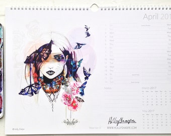 2017, A3 wall calendar by Holly Sharpe **ON SALE**