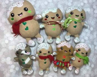 Christmas Plush / Gingerbread Plush / Gingerbread Girl Doll / Gingerbread Doll / Christmas Gift / Stocking Stuffer / Ready to Ship