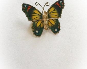 Vintage 1970s Butterfly Brooch