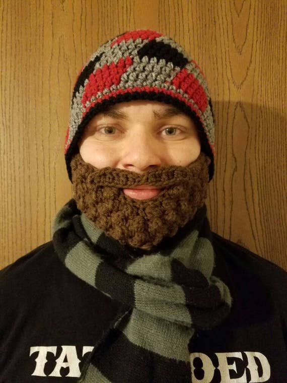 Men's Beard Beanie, Baby Beard Beanie, Lumberjack Costume, Lumberjack Party Supplies, Beard Hat, Baby Beard Hat, Lumberjack First Birthday