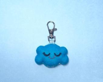 Cloud Keychain - Happy Cloud Charm - Cloud Key Chain - Kawaii Key Chain - Cloud Charm - Bag Charms