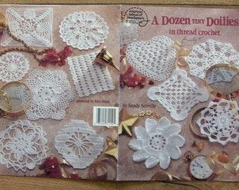 vintage 1993 crochet pattern A Dozen Tiny Doilies