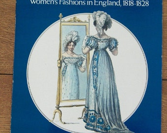 vintage 70s Ackermann's Costume Plates women's fashions in England 1818-1828