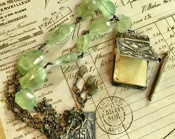Awesome Art Nouveau French Dance Book Necklace