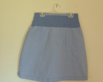 Sale Small Light Organic Cotton Sweatshirt Fleece Aline skirt- Made in the USA