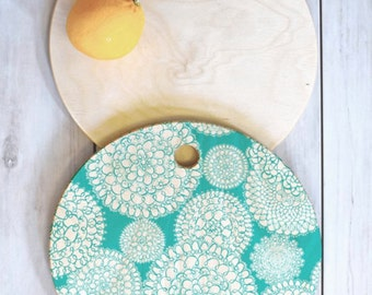 Boho Cutting Board // Birch Wood Serving Board // Kitchen Decor // Three Sizes // Round, Square, Rectangular // Delightful Doilies Tiffany