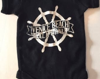 Babies Infants Venice Beach Ship Wheel Helm Onesie Bodysuit