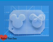 SALE Boy and Girl Mouse Heads   Handmade Plastic Resin Mold