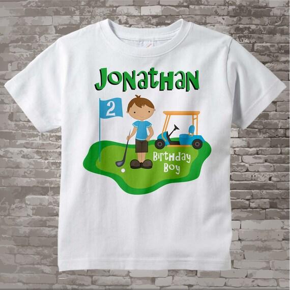 2nd Birthday Golf Theme Shirt Personalized Second Birthday Boy