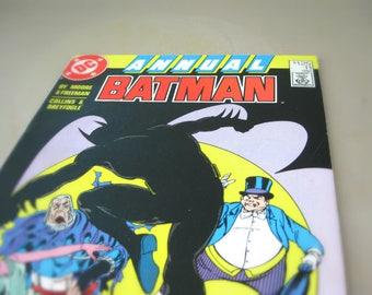 Vintage Batman Comic Book, DC Comics Superhero, 1987 Annual Batman - Penguin, Vicky Vale, The Dark Knight, Caped Crusader, Batman and Robin