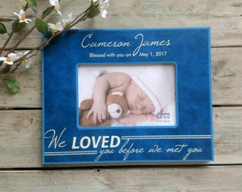 Baby frame etsy personalized baby picture frame personalized baby frame newborn boy gift engraved newborn gift negle Images