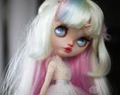 Aurora the Unicorn - custom ooak Blythe doll - unique art doll by KarolinFelix