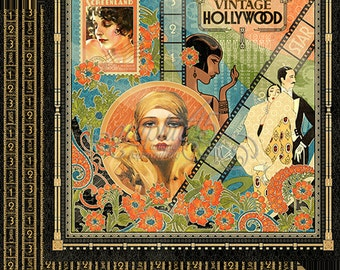 Graphic 45 Vintage Hollywood 24 Double Sided Sheets 12x12