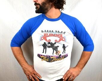 Vintage Alabama 1980s Raglan Concert Tee Shirt - The Touch