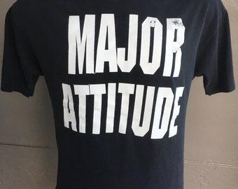 Major Attitude 1980s soft vintage t-shirt - black size large