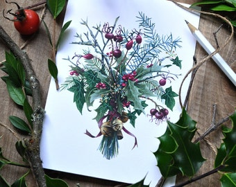 Winter Bouquet - Holiday Greeting Card