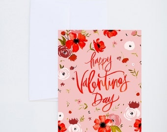 Love & Friendship - Happy Valentines Day - Single Card A-2