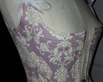 18th Century, FULLY BONED Marie Antoinette Corset Stays, Outlander, Versailles, Rococo - Custom Made in USA = No Risky Overseas Purchase.