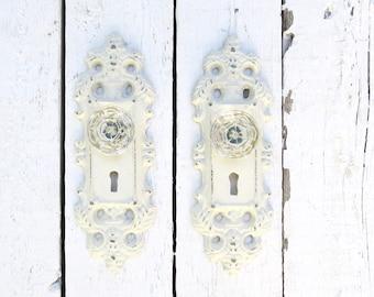 Shabby Cottage Hooks, Ornate Hooks, Vintage Inspired, Glass Knobs, Towel Hooks, Coat Hooks, French Cottage, Paris Apartment, Organization