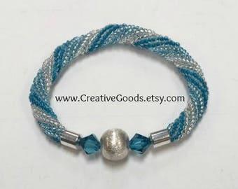 Beading Pattern - Beading Tutorial - Spiral Frost Bracelet Pattern - Stretch Bracelet