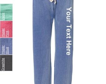Customized MV Sport - Ladies' Angel Fleece Sanded Pant - W2355 All Colors Vinyl Glitter or Rhinestone Sweatshirt