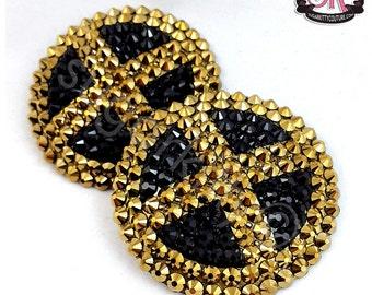 X-Men Inspired Logo Emblem Rhinestone Nipple Pasties - SugarKitty Couture