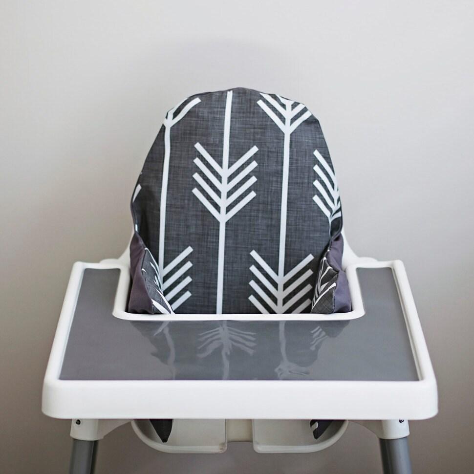 Charcoal Grey Arrows Ikea Antilop Highchair By