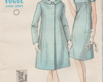 Vogue Special Design 7021 / Vintage 60s Sewing Pattern / Coat And Dress / Size 16 Bust 36