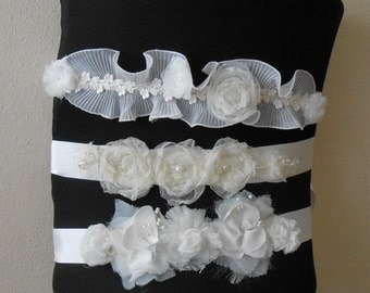 Flower Girl Sash Belt for girls, White floral wedding belt