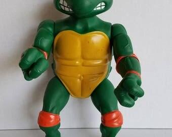 """VTG 1989 Mirage Studios Playmates Toys TMNT Ninja Turtle Michelangelo 13"""" Figure"""