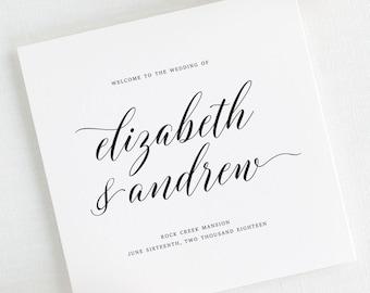 Elegant Romance Wedding Programs - Deposit