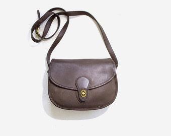 Vintage Coach Bag / Taupe Leather Coach Purse / Coach Prairie Bag / Coach Satchel