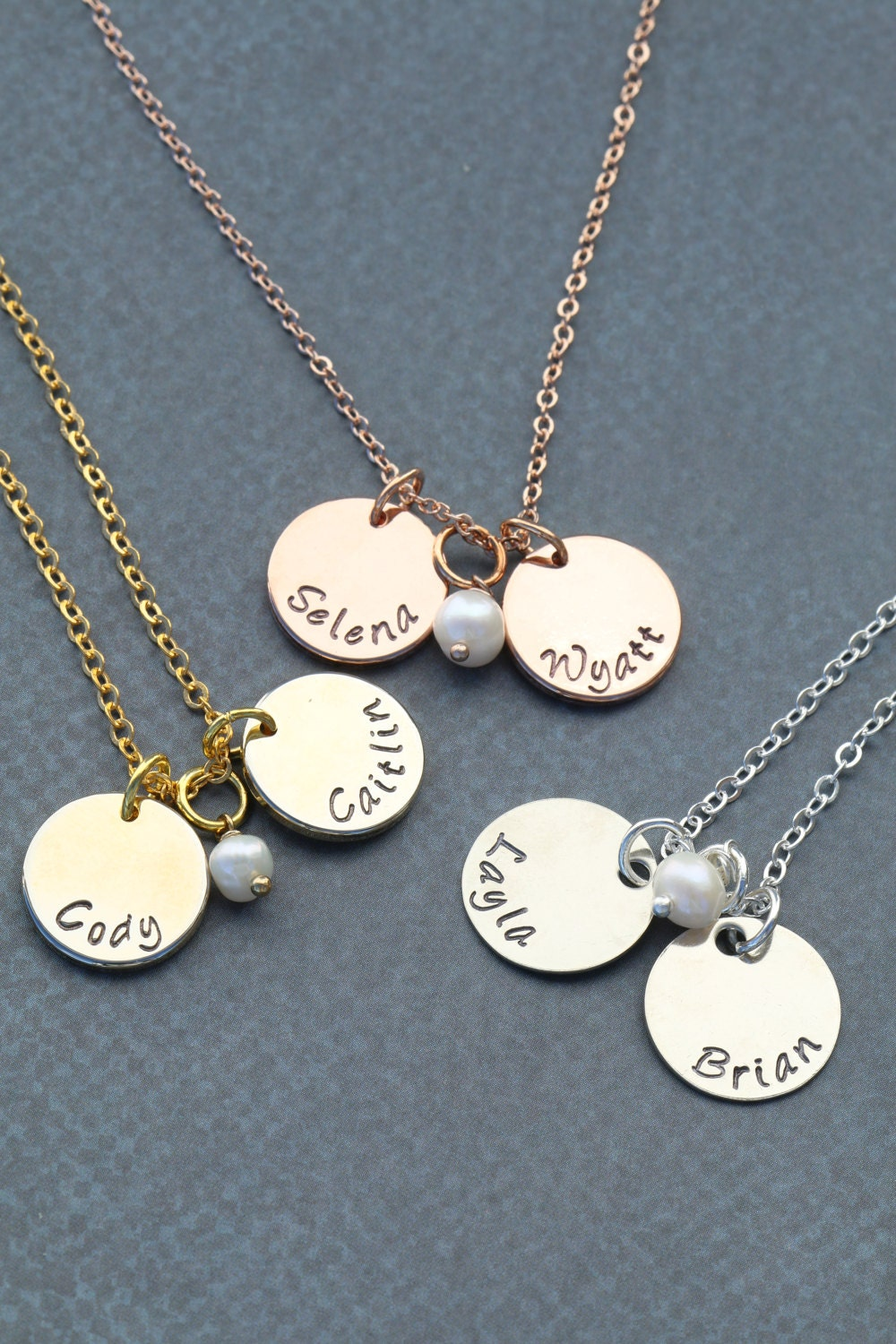 Childrens Name Necklace Mommy Necklace Mothers Necklace