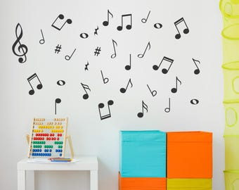 Music Notes Wall Decals - Music Decals -  Music Notes - Music Wall Decals - Musical Note Stickers - Music Wall Decor -