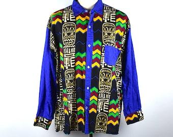 Afrocentric Men's Long Sleeve Shirt