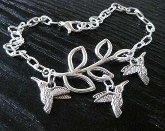 Hummingbirds Ankle Bracelet