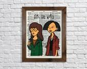 Daria and Jane Lane Dictionary Art Print