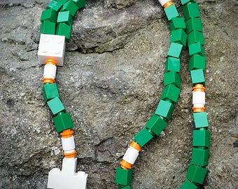 Lego Rosary - The Original Lego Rosary - Green, White and Orange