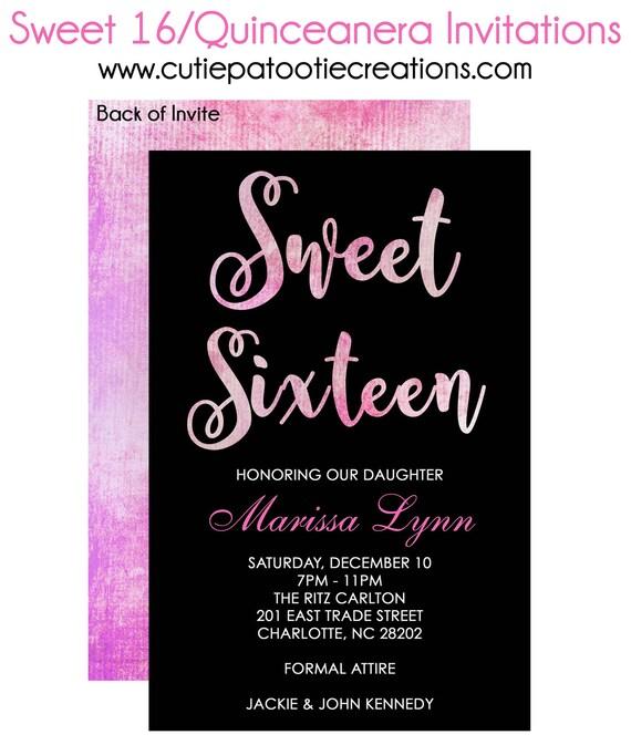 Sweet 16 birthday invitations quinceanera invitation bat mitzvah il570xn filmwisefo