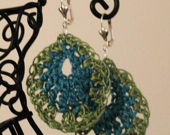 Crochet Teardrop Earrings