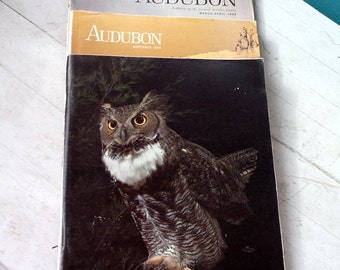 Audubon Magazines Vintage 1960's  lot of 4 AUDUBON magazines Birding BIrd Watching National Audubon Society