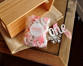 Winter Onederland Party Decorations. Handcrafted in 2-5 Business Days. Baby Pink, White & ...