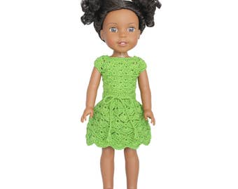 "Download Now - CROCHET PATTERN 13 - 14.5"" Doll Selena Dress"