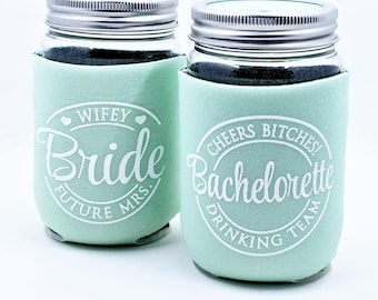 Bachelorette Party Cup, Drinking Team, Cheers Bitches, Bachelorette Tumbler, Mint