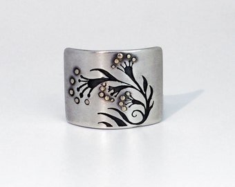 Flower Shadow Ring - Ready To Send!