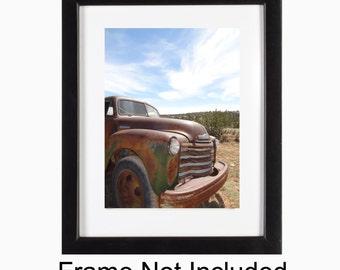 Old Chevy Truck Photo, Fine Art Photograph 8x10, Loft Apartment Decor