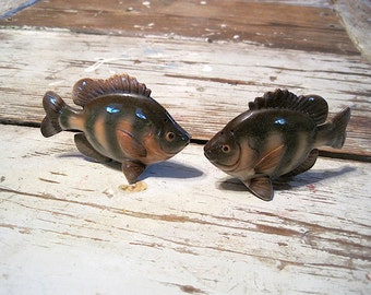 Vintage Relco Bluegill Fish Salt and Pepper Shakers