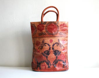 Leather Indian Elephant Tote