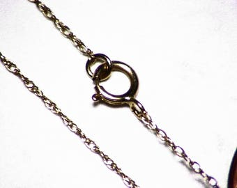 14kt Solid Gold Cable Chain 18 inches